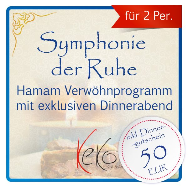 Hamam & Dinner – Symphonie der Ruhe